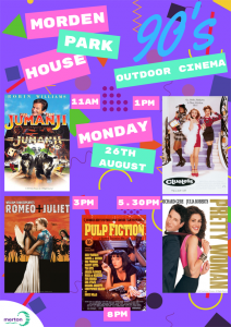 Morden outdoor cinema poster