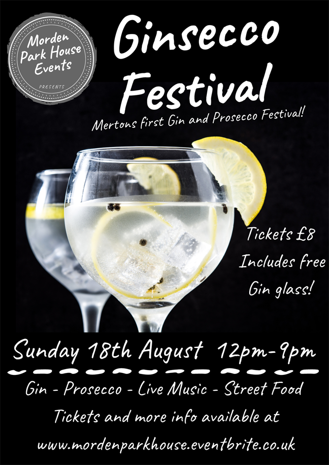 Morden Park House Ginsecco Fesitval Poster