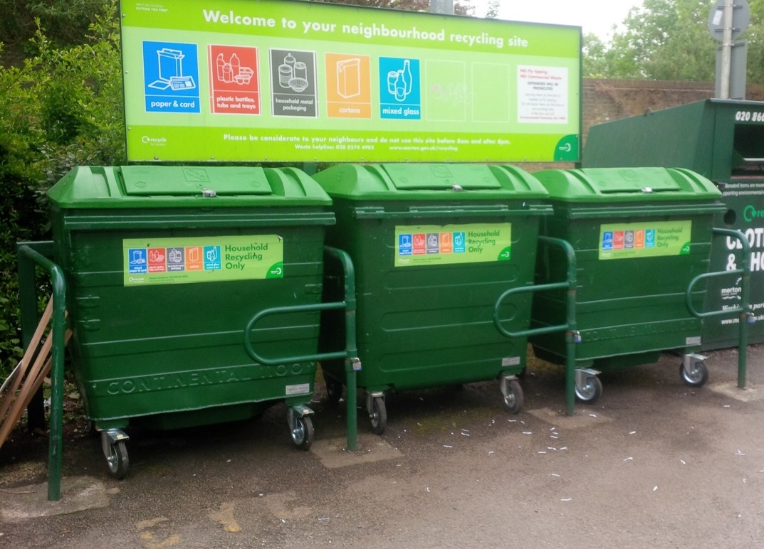 merton neighbourhood recycling centre bins