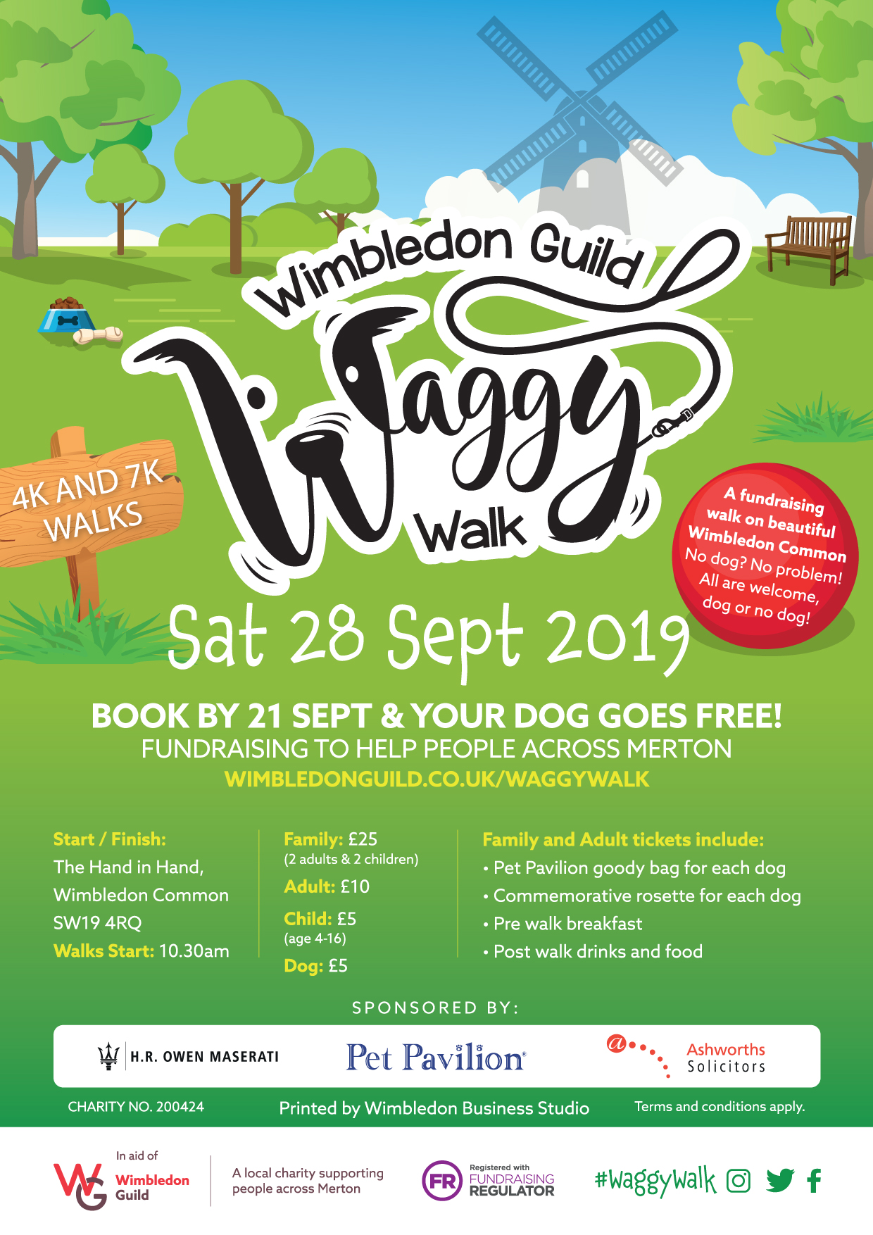 Wimbledon Guild Waggy Walk Poster Sept 2019