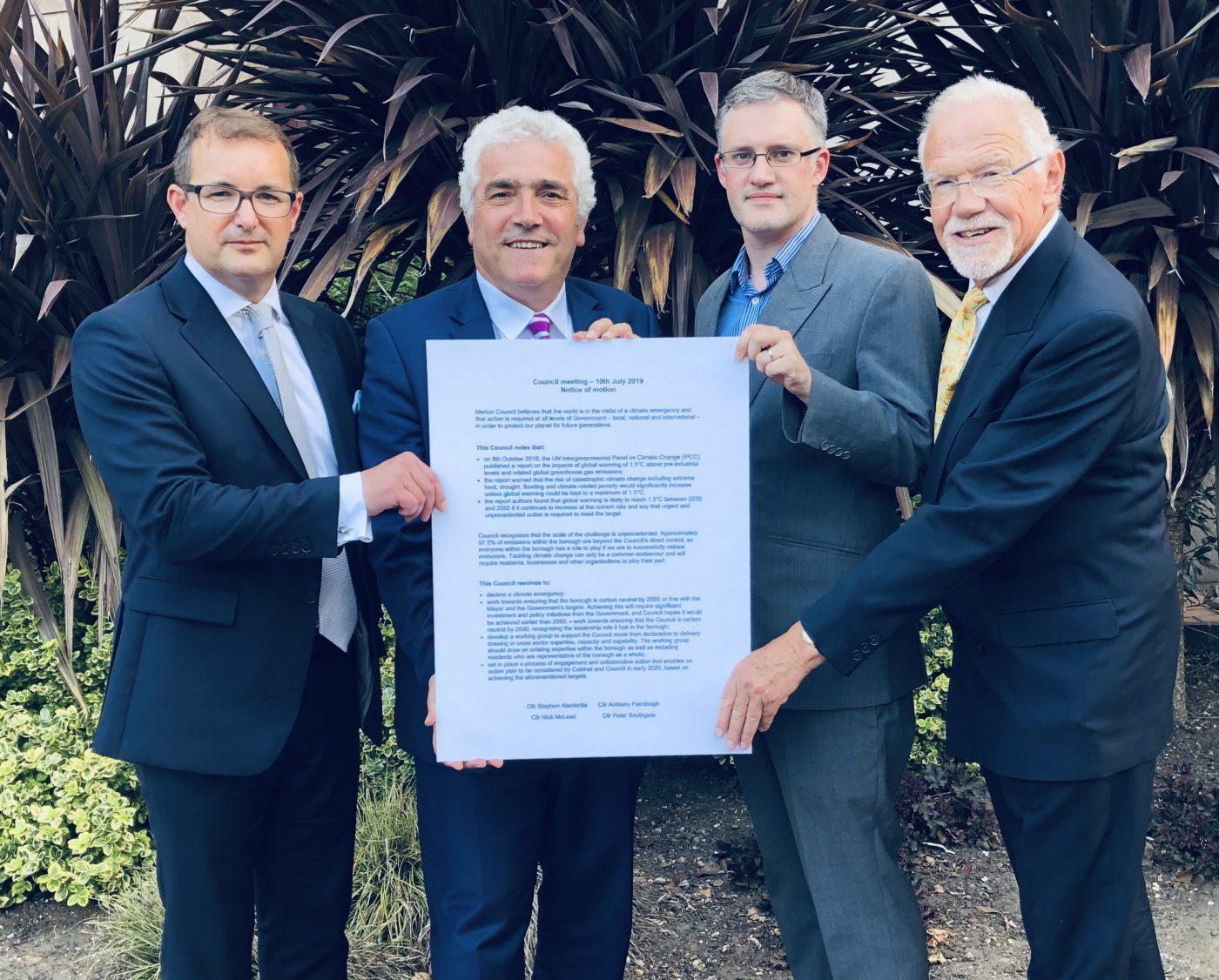 merton councillors declare climate emergency
