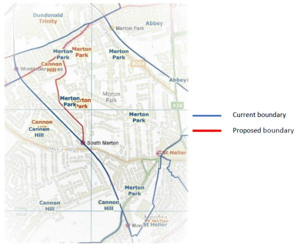 Merton Park Ward Boundary Review - proposed loss