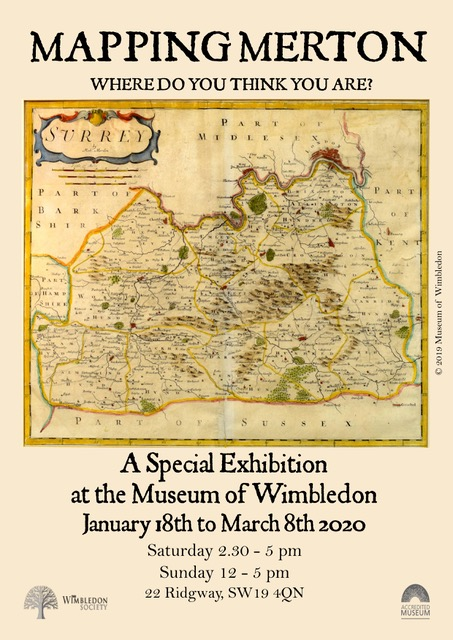 Mapping Merton - Exhibition at Museum of Wimbledon