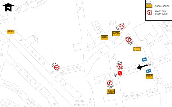 Map of Proposed LTN area in Merton Par kWard