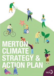 Merton Climate Emergency Action Plan Image with link to download.