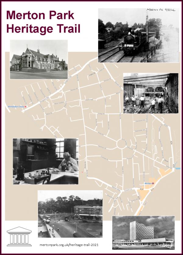 Poster advertising Merton Park Heritage Trail 2021